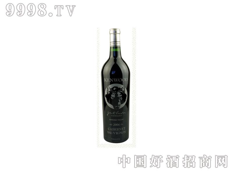美国金舞庄狼头赤霞珠干红葡萄酒