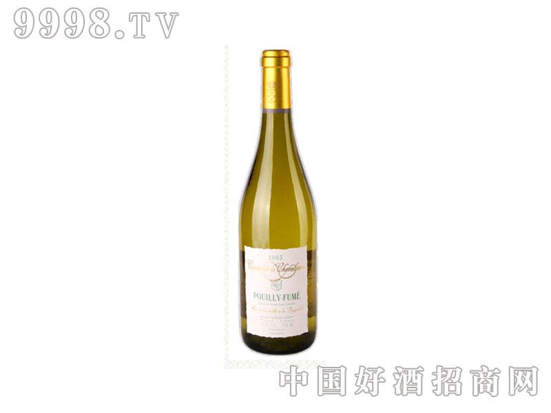 法国布衣飞烟侃白马干白葡萄酒