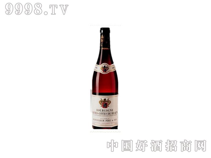 法国福乐父子上伯恩干红葡萄酒