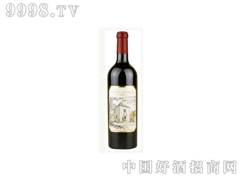 法国赫辛森古堡守望塔波尔多葡萄酒