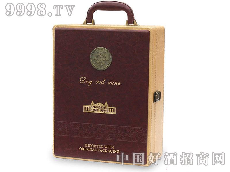 高档精美红酒皮盒-双支装
