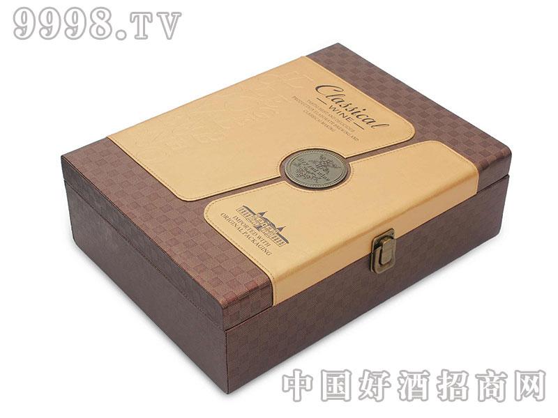 红酒包装盒双支皮盒包装