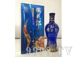 镭射压纹国花郎-蓝瓷