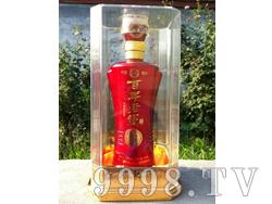 亚克力水晶盒百年老窖-金属红瓶