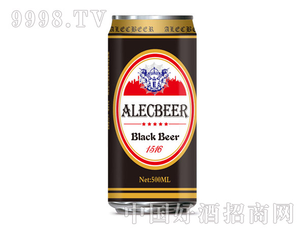 艾利克500ML黑啤易拉罐装