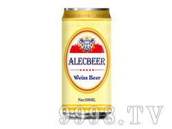 艾利客500ml白啤易拉罐装