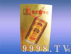 优质金啤酒手提袋