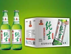 崂山泉啤酒330ml条纹纯生