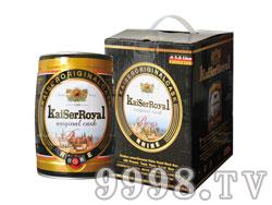 凯撒原樽5L黑啤礼盒