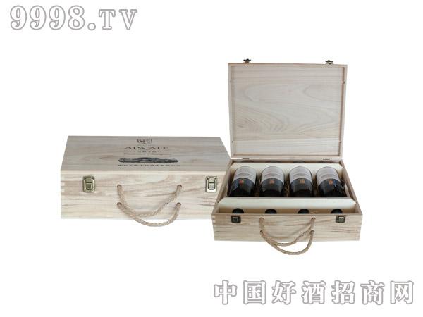 艾斯卡特通用版四支木盒(桐木)