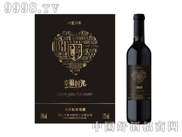 艾斯卡特全汁葡萄酒幸福时光375ml