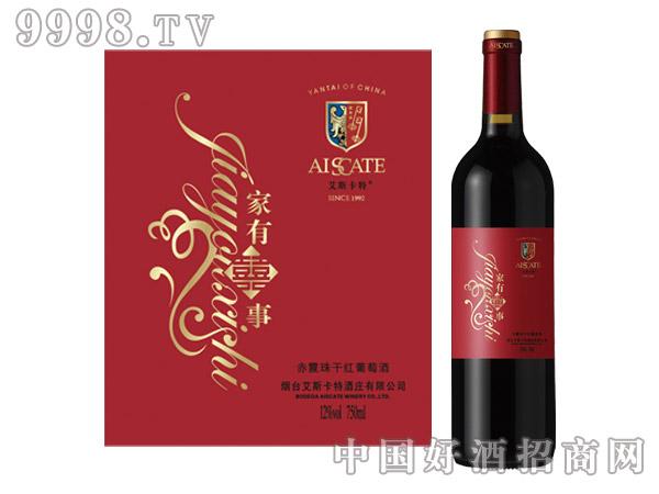 艾斯卡特家有喜事赤霞珠干红葡萄酒