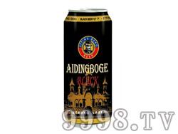 爱丁博格啤酒500ml黑罐