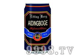 爱丁博格啤酒320ml黑罐