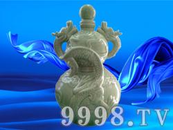 双龙戏珠烤瓷(青)