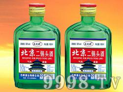 北京二锅头酒(小绿)56度 100mlx40