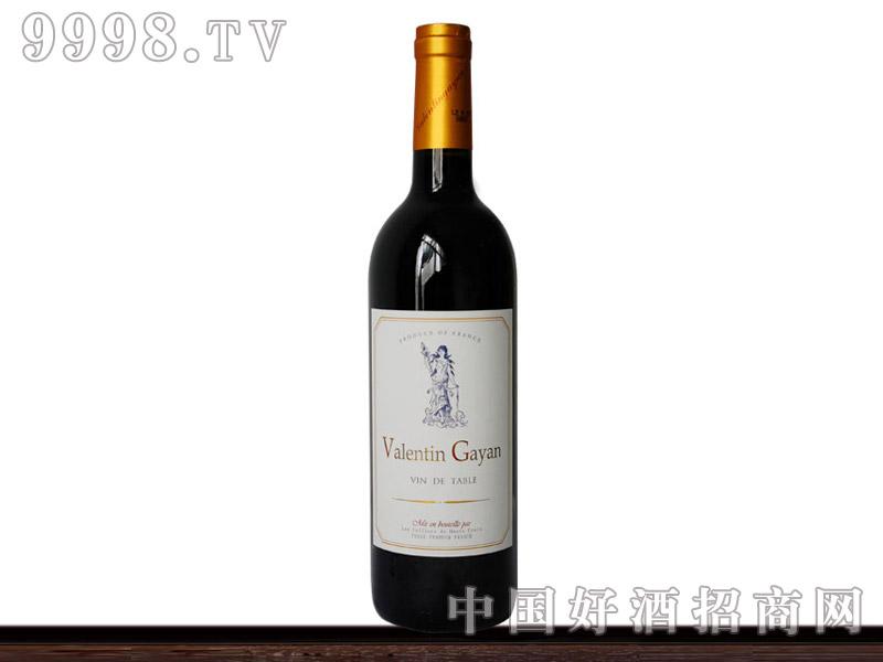 法国波尔多瓦伦庭干红葡萄酒