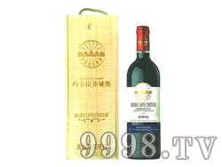 玛卡拉菲城堡巴尔克红葡萄酒单支木盒