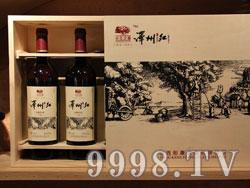 泽州红山楂红酒750ml四支礼盒