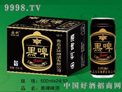 国科黑啤千赢国际手机版500ML12罐(易拉罐装)