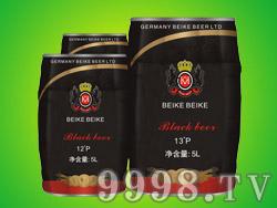 德国倍克贝克啤酒5L桶装黑啤