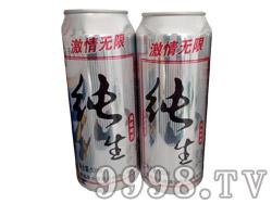 纯生风味啤酒激情无限500ml