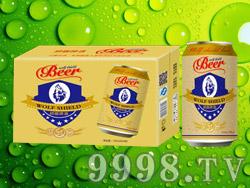 狼盾啤酒易拉罐330ml×24罐