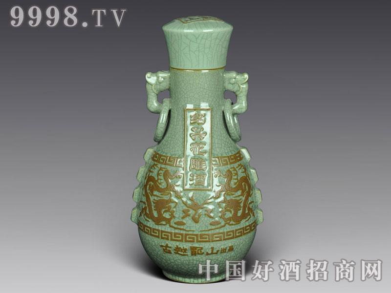 哥窑酒瓶-古越龙山花雕酒