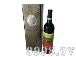白洋河单支皮盒干红葡萄酒