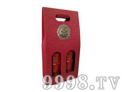 白洋河双枝开窗礼盒(红色)