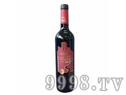 观景台精选干红葡萄酒红标