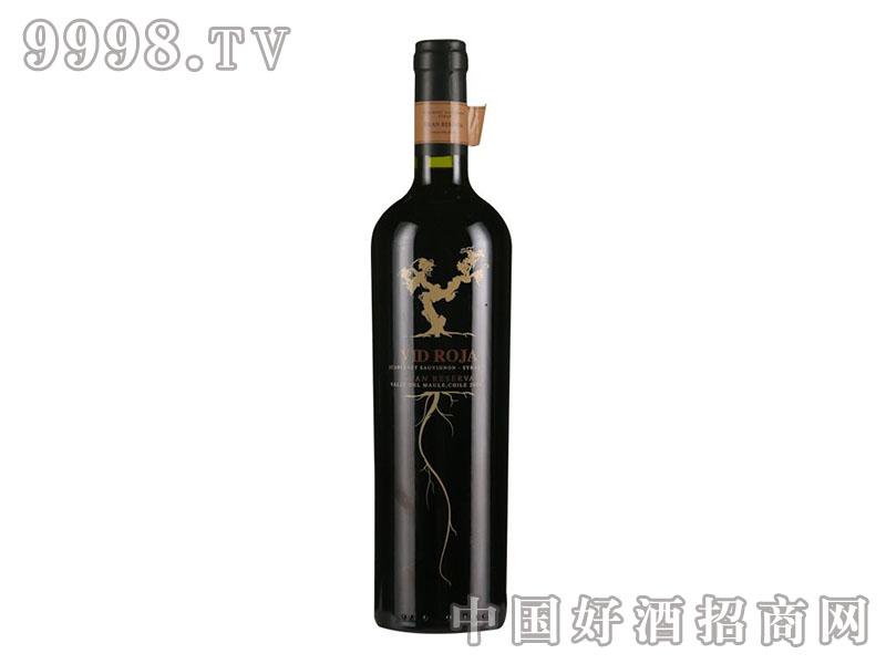 赤藤格兰珍藏赤霞珠西拉干红葡萄酒