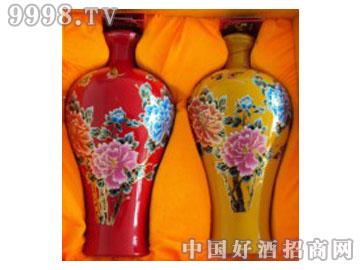 草原安达三斤牡丹印花瓶