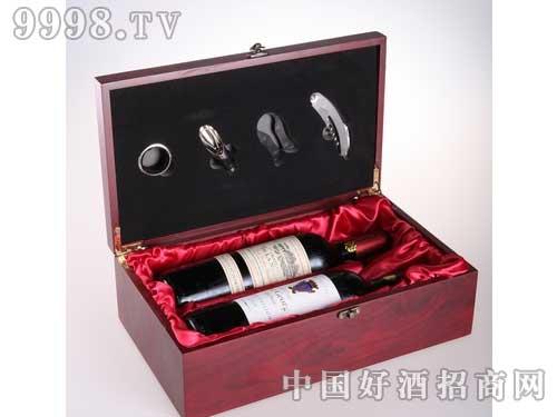 干红葡萄酒双支装木盒