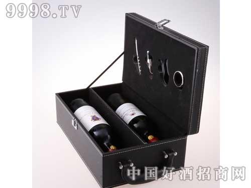 干红葡萄酒双支装皮盒