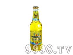 雪影啤酒330ml白标白瓶24瓶