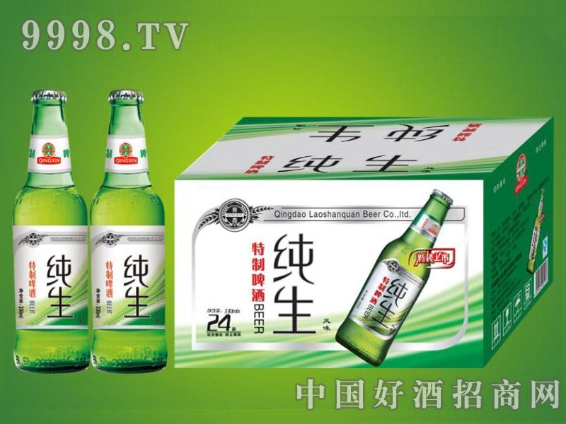 崂山泉千赢国际手机版330ml 特制纯生1X24