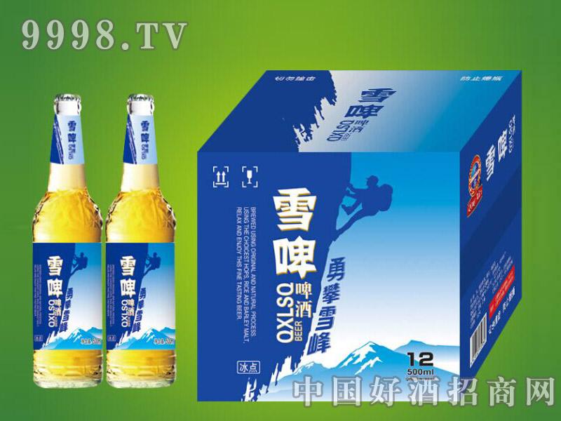 崂山泉千赢国际手机版500ml白瓶雪啤1X12