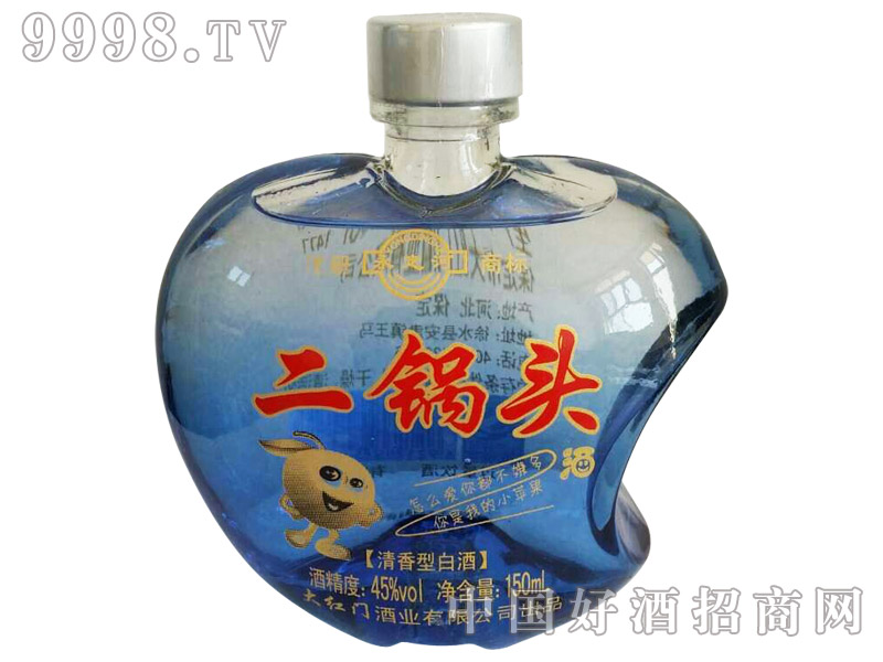 蓝瓶小苹果二锅头酒45°150ml