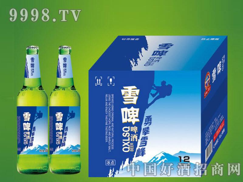 崂山泉千赢国际手机版500ml绿瓶雪啤1X12