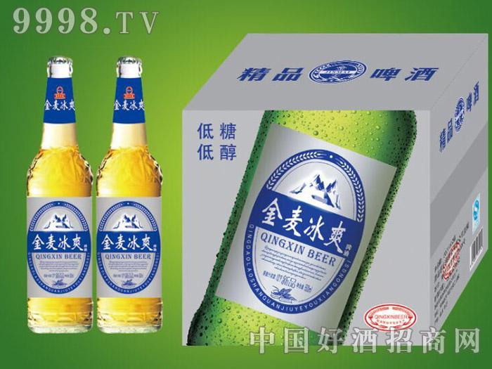 崂山泉千赢国际手机版500ml金麦冰爽白瓶1X12