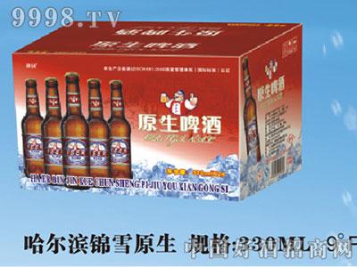 哈尔滨锦雪原生330ML