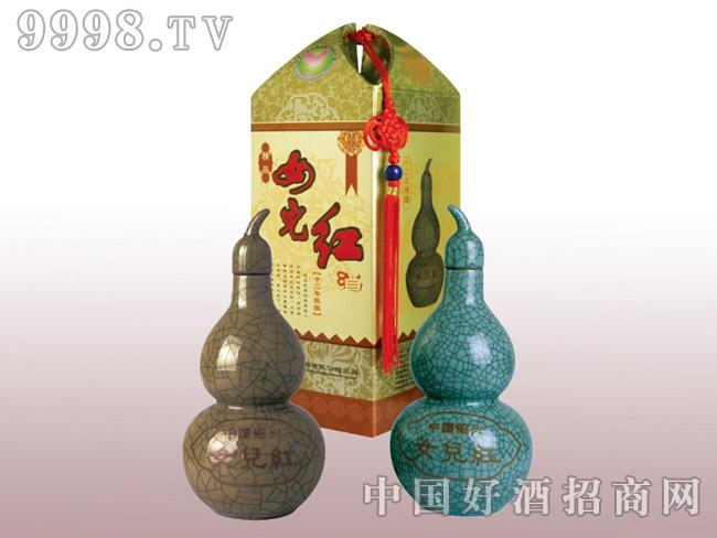 500ml十二年陈哥窑葫芦瓶女儿红
