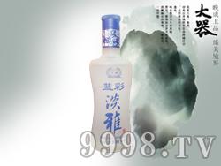 蓝彩淡雅酒