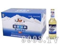 蓝带蓝渤蓝色经典啤酒330ml箱