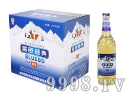 蓝带蓝渤蓝色经典啤酒488ml箱