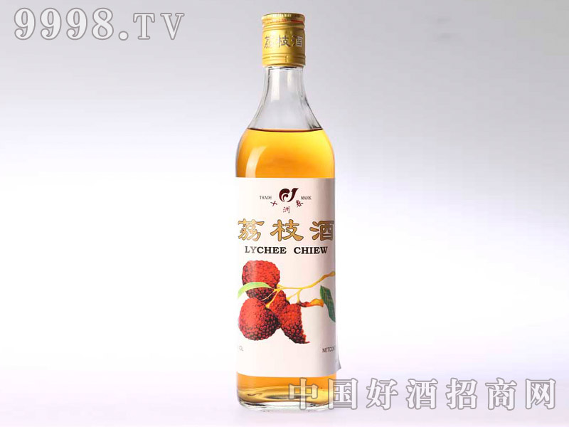 600ml浅色荔枝酒