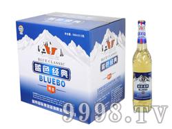 蓝带蓝渤蓝色经典啤酒588ml