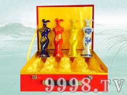 四大美女散酒礼盒(开盒)