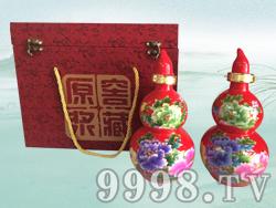 红色宝葫芦散酒礼盒